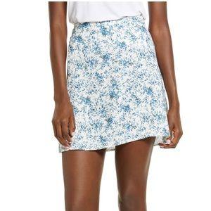 BP. Print Mini Skater Skirt Side Zip Ditsy Floral